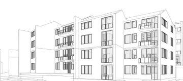 Edifício de apartamento ilustração stock
