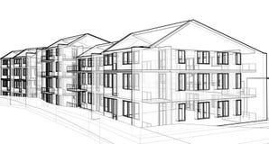 Edifício de apartamento ilustração do vetor