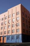 Edifício de apartamento colorido foto de stock royalty free