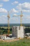 Edifício de apartamento sob a construção Foto de Stock