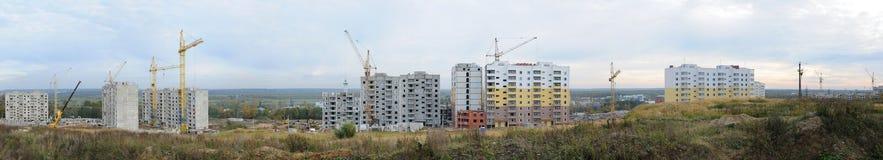 Edifício de apartamento sob a construção Fotografia de Stock