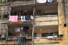 Edifício de apartamento velho Imagem de Stock