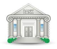 Edifício de banco ilustração stock