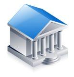 Edifício de banco ilustração do vetor
