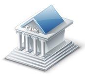 Edifício de banco ilustração royalty free