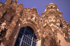 Edifício de Califórnia com fachada e torre, balboa Fotos de Stock