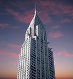 Edifício de Chrysler no por do sol Imagem de Stock Royalty Free