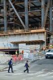 Edifício de Highrise sob a construção Foto de Stock