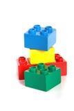 Edifício de Lego Fotografia de Stock
