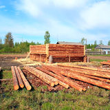 Edifício de madeira Fotos de Stock Royalty Free