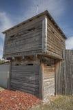 Edifício de madeira do forte Fotografia de Stock