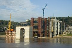 Edifício de ponte Foto de Stock