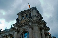Edifício de Reichstag Foto de Stock Royalty Free