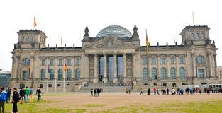 Edifício de Reichstag em Berlim, Alemanha Imagem de Stock