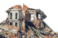 Edifício de tijolo completamente arruinado Foto de Stock Royalty Free