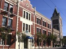 Edifício de tijolo em San Francisco imagem de stock