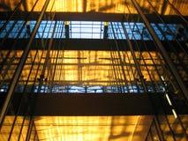 Edifício de vidro #1 interior Imagens de Stock Royalty Free