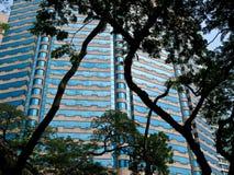 Edifício de vidro azul em Malaysia Imagem de Stock
