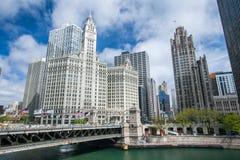 Edifício de Wrigley em Chicago fotos de stock royalty free