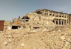 Edifício destruído Imagens de Stock Royalty Free