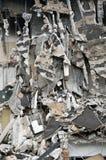 Edifício destruído, restos. Série Foto de Stock Royalty Free