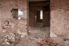 Edifício destruído velho fotografia de stock royalty free