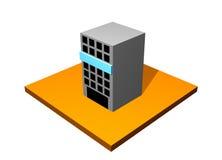 Edifício do arranha-céus da cidade ilustração royalty free