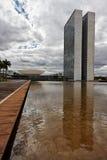 Edifício do congresso em Brasília Foto de Stock Royalty Free
