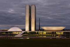Edifício do congresso na noite Foto de Stock Royalty Free