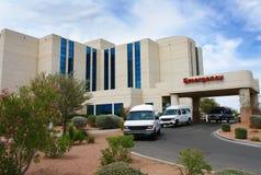 Edifício do hospital da emergência foto de stock royalty free