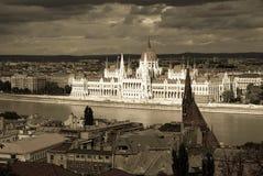 Edifício do parlamento de Budapest foto de stock royalty free