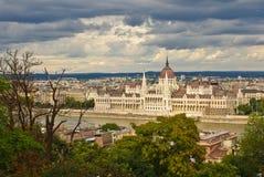 Edifício do parlamento de Budapest imagem de stock royalty free