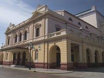Edifício do teatro nacional na república Panamá Imagem de Stock