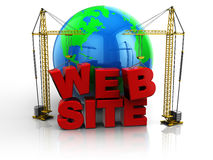 Edifício do Web site Foto de Stock
