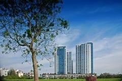 Edifício e arranha-céus modernos Imagem de Stock