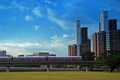 Edifício e arranha-céus modernos Foto de Stock Royalty Free