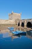 Edifício em Essaouira, Marrocos da fortaleza de Mogador Fotografia de Stock