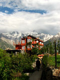 Edifício em montanhas indianas Imagens de Stock Royalty Free