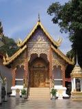 Edifício em Wat Phrathat, Doi Suthep Foto de Stock Royalty Free