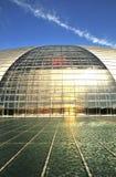 Edifício esplêndido com lagoa Imagens de Stock