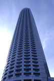 Edifício futurista da finança Fotos de Stock Royalty Free
