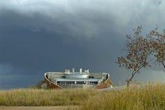 Edifício futurista em Maropeng fotos de stock royalty free