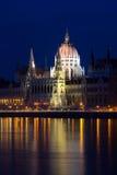 Edifício húngaro do parlamento Fotos de Stock Royalty Free