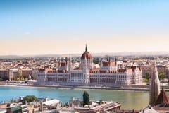 Edifício húngaro do parlamento, Budapest Fotos de Stock