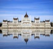 Edifício húngaro do parlamento, Budapest Imagem de Stock