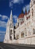 Edifício húngaro do parlamento em Budapest Imagem de Stock