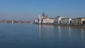 Edifício húngaro do parlamento em Budapest Fotografia de Stock Royalty Free