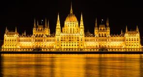Edifício húngaro do parlamento em Budapest Foto de Stock Royalty Free