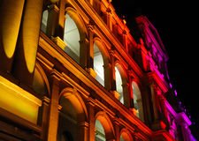 Edifício iluminado do Tesouraria Imagens de Stock