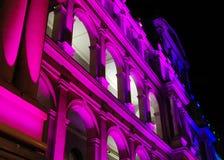 Edifício iluminado do Tesouraria Fotos de Stock